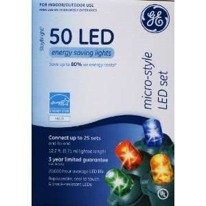 GE 50 LED Multi color Micro Style Lights