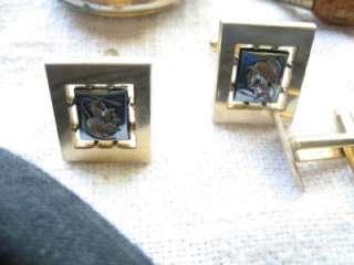 Vtg Men Junk Drawer Lot Ulster Box,Political,Old Coin,10KGF pin