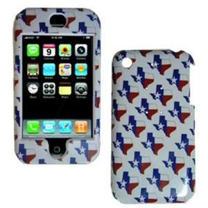FASHION DESIGN PLASTIC APPLE IPHONE CASE / TEXAS