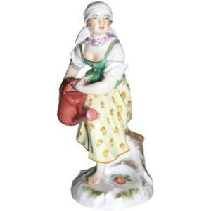 Meissen hand painted Sculpture entitled Woman with