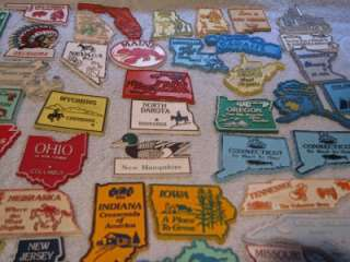 52 Vintage Estate Souvenir State Refrigerator Magnets Magnetic