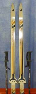 Cross Country 65 Skis 3 pin 170 cm +Poles JARVINEN