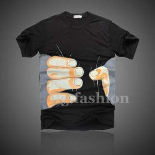 2012 Hot Mens Womens Boys Round Neck Hands Tee Shirt Short Sleeve