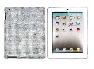 Silver Crystal Rhinestone Case Cover for Apple iPad 2