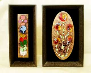 Israel Vintage Art, Enamel Works on Metal Thin, Framed