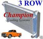 1967 1968 1969 1970 1971 1972 Chevy Pickup Truck/Blazer 3 Row Aluminum