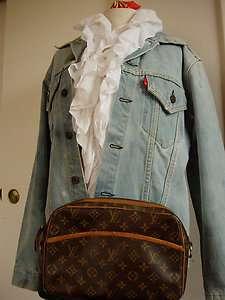 Vintage Authentic LOUIS VUITTON French Co Handbag Clutch Purse Bag no