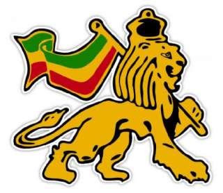 LION OF JUDAH DECAL STICKER RASTA REGGAE JAMAICA AFRICA