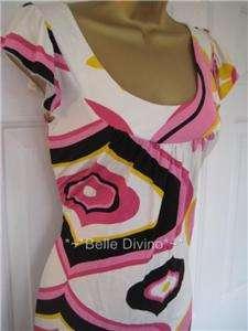 Jane Norman Pink Black & White Retro Dress tunic top 8