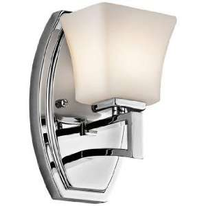 Kichler Luciani 8 High Opal Glass and Chrome Wall Sconce