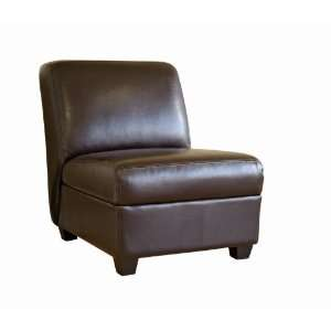 Wholesale Interiors Dark Brown Full Leather Club Chair