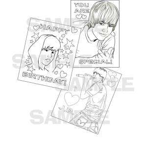 JUSTIN BIEBER birthday party fun COLORING PAGES favors