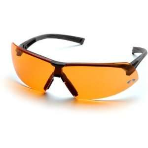 Pyramex Onix Safety Glasses   Orange Lens, Black Frame SB4940S, Single
