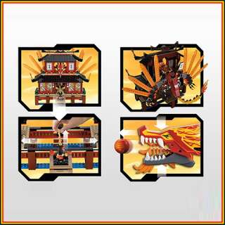 LEGO NINJAGO 2507 Fire Temple Dragon sets Spinner ninja minifigures