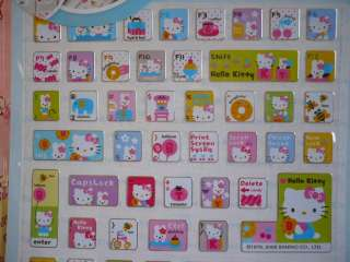 Sanrio Hello Kitty Computer Decoration Keyboard Sticker B