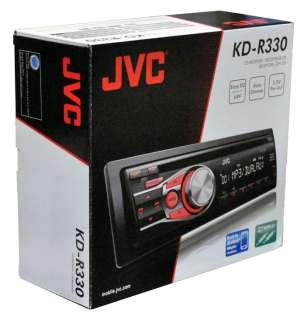 NEW JVC KD R330 In Dash AM/FM CD/CD R/RW//WMA Car Stereo Receiver