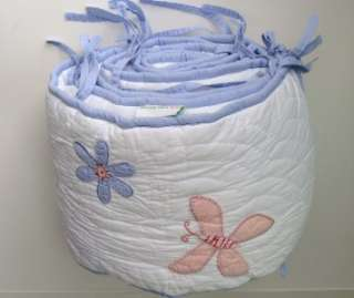 Pottery Barn Kids Girls Baby Crib Bumper Pad Flowers