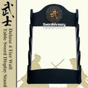 Tier Wall Table Sword Display Stand With Kanji