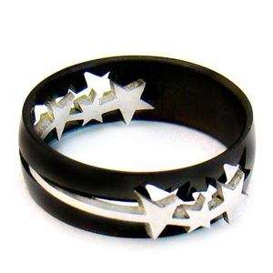 Current Stainless 316L Steel Size 8 Star Ring Fashion Jewelry For Men