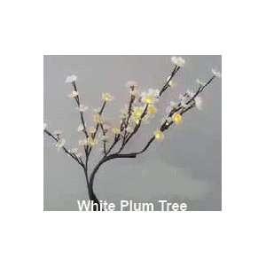 Plum Tree White   60 LED Lights, 24 Tall   Battery