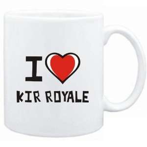 Mug White I love Kir Royale  Drinks: Sports & Outdoors