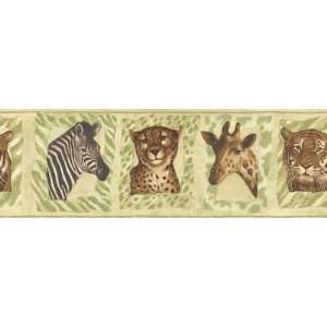 Jungle Animals Zebra Tiger Cheetah Print Giraffe Wallpaper