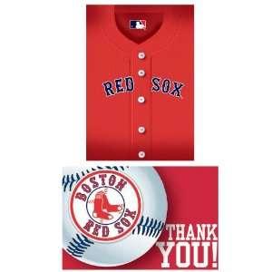 Boston Red Sox Baseball   Invite & Thank You Combo