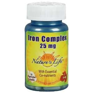 Natures Life Iron Complex Veg Capsules, 25 Mg, 50 ct, 2