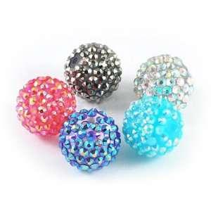 DIY Jewelry Making Jewelry Making 12x Resin Rhinestone Beads, Round