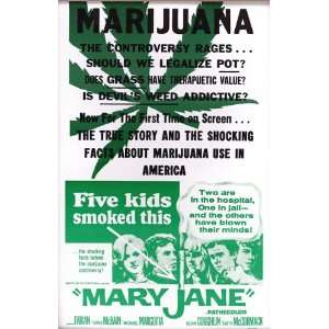 Marijuana Mary Jane 14 X 22 Vintage Style Concert