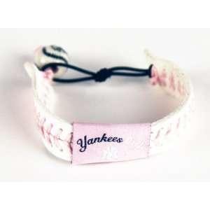 MLB New York Yankees Yankee Girl Pink Baseball Bracelet