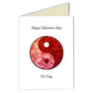 Valentines Day Greeting Card   Yin Yang (Red/Red)with Chinese Proverb