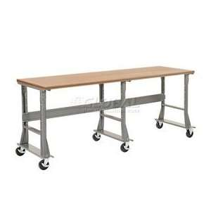 96x30 Mobile Shop Top Square Edge Work Bench  Fixed Height