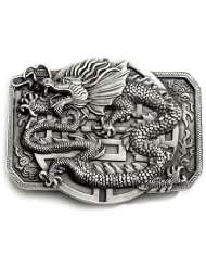 EASTERN DRAGON Belt Buckle Chinese Fantasy Tattoo Myth