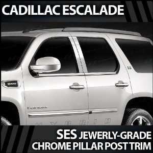 2007 2012 Cadillac Escalade 4pc. SES Chrome Pillar Trim