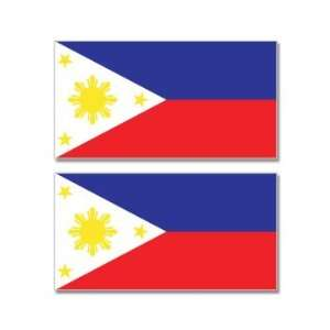 Philippines Country Flag   Sheet of 2   Window Bumper