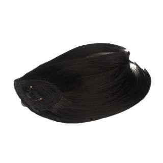 Beautiful Lady Girls Hair Extension Clip Straight Bang Black Hair Bang