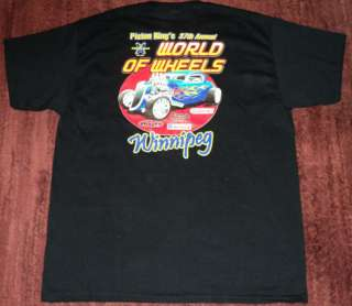 WILD NEW World Of Wheels Hot Rod Car Show T  Shirt XL