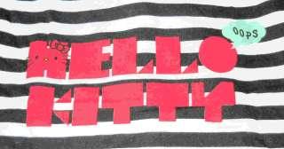 HELLO KITTY~ OOPS B&W STRIPE COWL NECK ZIP JACKET RARE