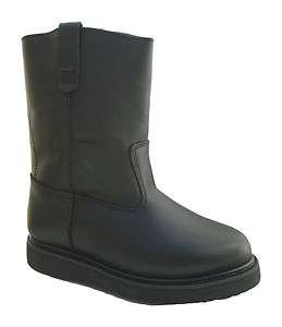 Vegace   La Vega Men 10 Wellington Black Leather Pull On Western Work