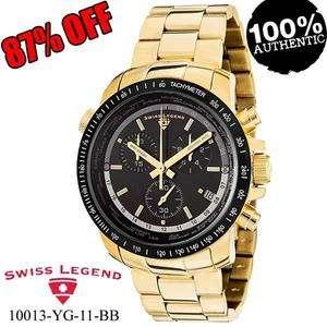 LEGEND 10013 YG 11 BB WORLD TIMER CHRONO YELLOW GOLD TONE WATCH