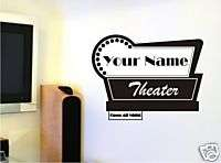Wall Vinyl Art Decal Sticker Movie Theater Sign Name