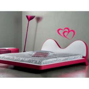 Two Valentine Hearts Vinyl Wall Decal