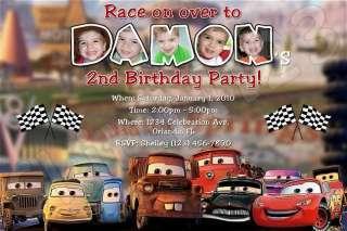Custom Disney Cars Personalized Birthday Invitations