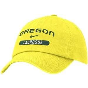 Nike Oregon Ducks Yellow Lacrosse Adjustable Hat: Sports