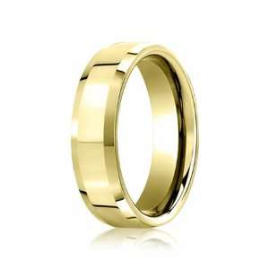5.0 Millimeters High Polished Yellow Gold Wedding Band Ring