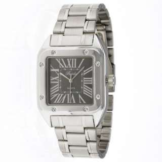 Breda Mens 4114_Blk Russell Square Roman Numeral Classic Watch
