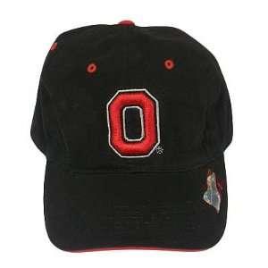 NCAA OHIO STATE BUCKEYES BLACK CAP HAT ADJ NEW Sports