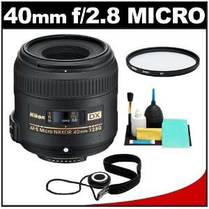 Nikon 40mm f/2.8 G DX AF S Micro Nikkor Lens + 3 UV Filter