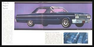 1964 Chevrolet Brochure Corvette Impala Bel Air Malibu